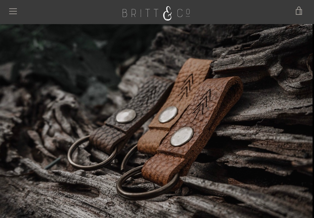 Father's Day Gift Idea: Leather Keychain from Brit & Co