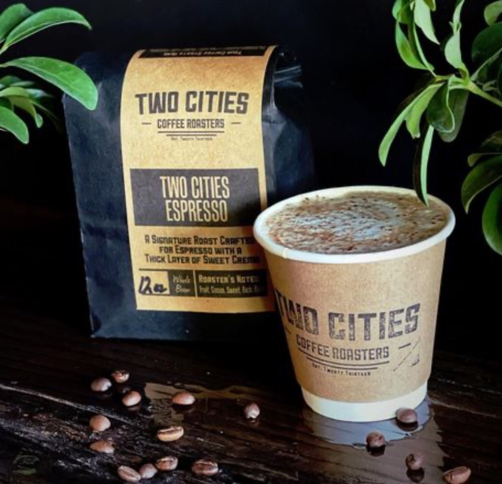 Father's Day  gift idea: gift card to local coffee shop Two Cities