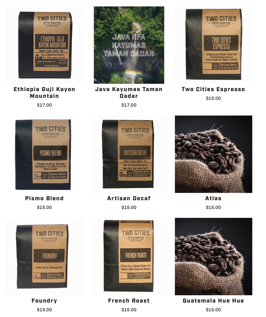 Father's Day gift ideas: gourmet coffee from Two Cities Coffee Roasters